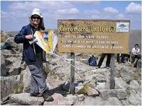Mabel en el cerro Uritorco