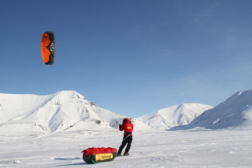 Barriletes en la Antartida