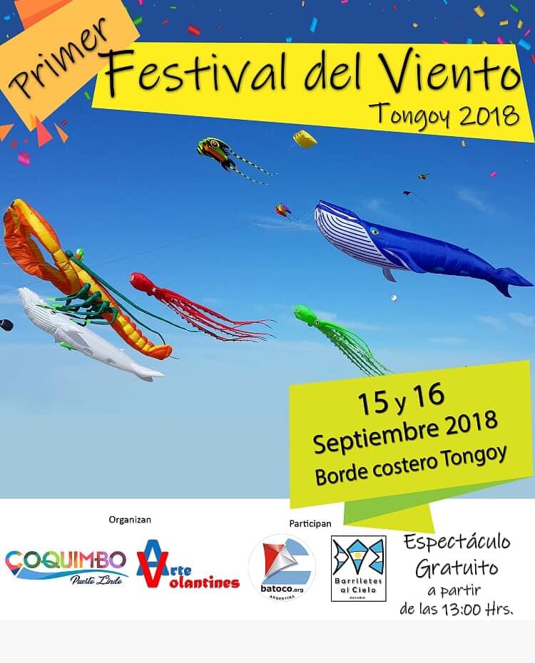 Festival del Viento Tongoy Afiche