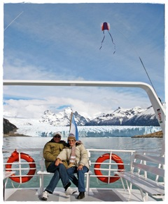 Roberto y Betty en el Glaciar