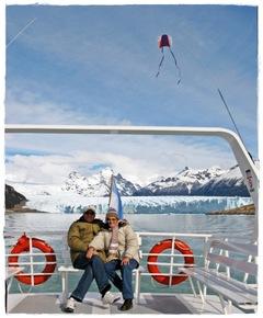 Roberto y Betty en el Glaciar