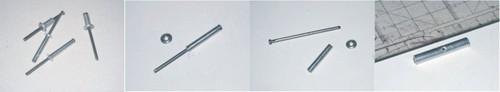 Detalle tubo de aluminio